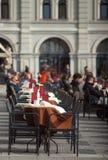 Vista de la barra de café al aire libre Fotografía de archivo libre de regalías