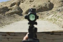Vista de la blanco con alcance del rifle Fotografía de archivo libre de regalías