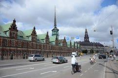 Vista de la bolsa de acción de Borsen, Copenhague Foto de archivo