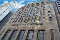 Vista de la bolsa de valores americana fotografía de archivo