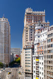 Vista de la calle Calle de la Princesa en Madrid, España Fotografía de archivo libre de regalías