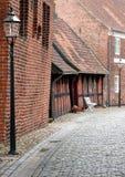 Vista de la calle de Puggaardsgade en Ribe Imágenes de archivo libres de regalías