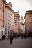 Vista de la calle de Trieste Foto de archivo libre de regalías