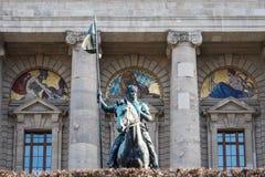 Vista de la canciller?a famosa del estado - Staatskanzlei en Munich, Alemania foto de archivo