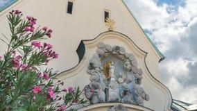 vista de la capilla en altoetting, Alemania del gnaden almacen de metraje de vídeo