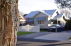 Vista de la casa ideal ideal borrosa fotografía de archivo libre de regalías