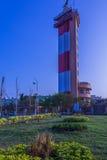 Vista de la casa ligera, Marina Beach, Chennai, la India En enero de 2016 Fotos de archivo libres de regalías