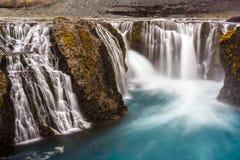 Vista de la cascada de Islandia Fotografía de archivo