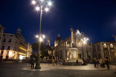 Vista de la catedral de Catania Foto de archivo libre de regalías