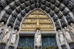 Vista de la catedral de Colonia imagen de archivo libre de regalías