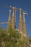 Vista de la catedral de Gaudi Fotos de archivo libres de regalías