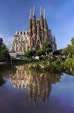 Vista de la catedral de Sagrada Familia en Barcelona en España Foto de archivo