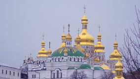 Vista de la catedral del Dormition almacen de metraje de vídeo