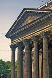 Vista de la catedral del icono de Kazán en la ciudad de St Petersburg, Rusia Imágenes de archivo libres de regalías