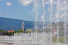 Vista de la catedral de Zagreb fotos de archivo libres de regalías