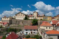 Vista de la cervecería en Znojmo fotos de archivo