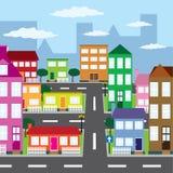 Vista de la ciudad. ilustración del vector