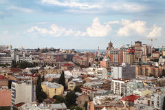Vista de la ciudad fotos de archivo