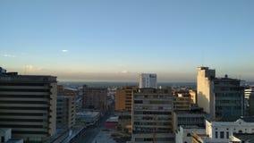 Vista de la ciudad fotografía de archivo