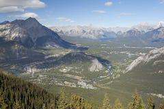 Vista de la ciudad Alberta de banff Foto de archivo libre de regalías