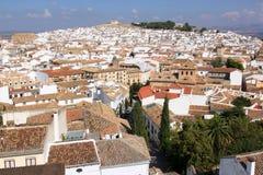 Vista de la ciudad andaluz de Antequera, España Imagenes de archivo