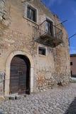 Vista de la ciudad antigua - Corfinio, L'Aquila, en la región de Abruzos - Italia Fotos de archivo