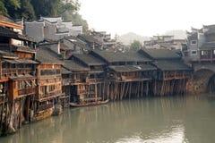 Vista de la ciudad antigua de Fenghuang Fotografía de archivo libre de regalías