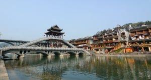 Vista de la ciudad antigua de Fenghuang, China Imagen de archivo libre de regalías