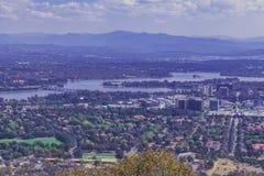 Vista de la ciudad de Canberra Fotografía de archivo libre de regalías