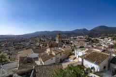 Vista de la ciudad de Caravaca de la Cruz situada en Murcia España imagen de archivo