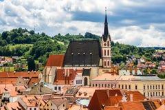 Vista de la ciudad Cesky Krumlov, República Checa Imagenes de archivo