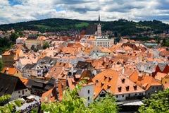 Vista de la ciudad Cesky Krumlov, República Checa Imagen de archivo libre de regalías