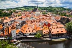 Vista de la ciudad Cesky Krumlov, República Checa Fotografía de archivo libre de regalías