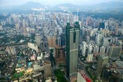 Vista de la ciudad China de Shenzhen del distrito de Luohu Fotos de archivo libres de regalías