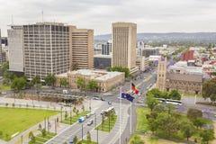 Vista de la ciudad de Adelaide en Australia en el d3ia imagenes de archivo