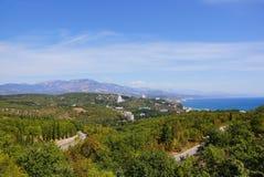 Vista de la ciudad de Alushta crimea Fotografía de archivo libre de regalías