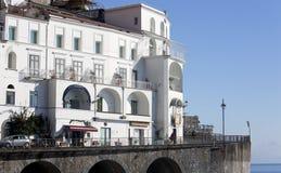 Vista de la ciudad de Amalfi Fotos de archivo libres de regalías