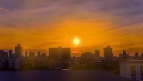 Vista de la ciudad de Bangkok Imágenes de archivo libres de regalías