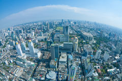 Vista de la ciudad de Bangkok con las nubes Imágenes de archivo libres de regalías