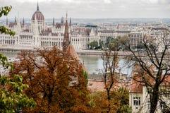 Vista de la ciudad de Budapest en otoño fotografía de archivo libre de regalías