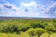 Vista de la ciudad de Burgas Imágenes de archivo libres de regalías