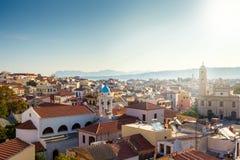 Vista de la ciudad de Chania Grecia crete imágenes de archivo libres de regalías