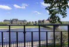 Vista de la ciudad de Dresden Imágenes de archivo libres de regalías