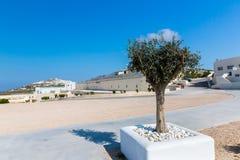 Vista de la ciudad de Fira - isla de Santorini, Creta, Grecia.    Fotos de archivo