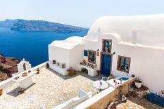 Vista de la ciudad de Fira - isla de Santorini, Creta, Grecia.   Fotografía de archivo libre de regalías