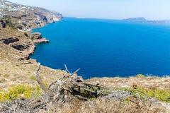 Vista de la ciudad de Fira - isla de Santorini, Creta, Grecia Imágenes de archivo libres de regalías