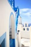 Vista de la ciudad de Fira - Santorini Grecia fotos de archivo