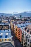 Vista de la ciudad de Innsbruck del tejado Foto de archivo libre de regalías