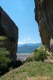 Vista de la ciudad de Kalabaka foto de archivo libre de regalías