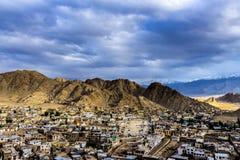 Vista de la ciudad de Leh Fotografía de archivo